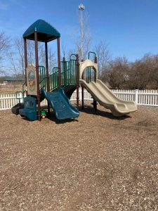 Outdoor daycare playground at Crossroads Learning Center in Howell, MI